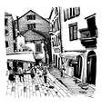 sketch drawing of Kotor street Montenegro vector image