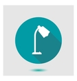 Stylish flat icon lamp vector image