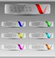 transparent banners with ribbons vector image