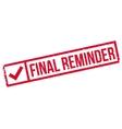 Final Reminder rubber stamp vector image