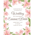 Wedding invitation magnolia sakura border frame vector image