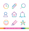 set from 9 flat icons for web and mobile vector image