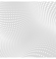 Light Gray White Distort Halftone Background vector image