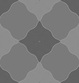 Monochrome pattern with gray wavy guilloche vector image