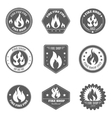 Fire shop emblems icons set black vector image