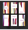 abstract background brochure template vector image