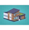 Contemporary american house vector image