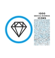 Diamond Rounded Symbol With 1000 Icons vector image