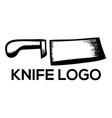 knife logo vector image