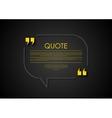 Quote speech bubble abstract design vector image
