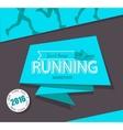 Running marathon and jogging emblem vector image