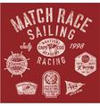 sailing match racing vector image