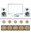 Computer with speaker isolated Media buttons vector image vector image