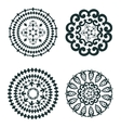 Elegant set of round ornaments vector image