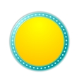 Shining yellow circle retro light banner vector image
