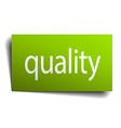quality square paper sign isolated on white vector image