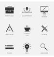 Creative design icons vector image
