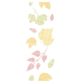 Abstract textile texture fall leaves vertical vector image