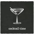 cocktail black old background vector image