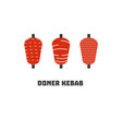 doner kebab icon set vector image