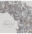 elegant card with Indian paisley pattern vector image