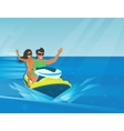 Extreme watercraft vector image