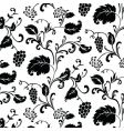 Grape vine pattern vector image