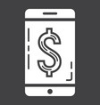mobile banking glyph icon business and finance vector image