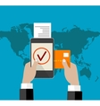 mobile payment credit card vector image