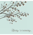 Spring is coming background tree vector image