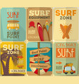 surf posters vector image