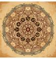 ornate mandala and zodiac circle horoscope signs vector image