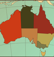 Colorful AUSTRALIA Map vector image vector image