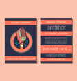 invitation card template for karaoke music vector image