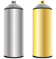 Spray bottle gold and aluminum vector image