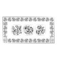 old tiles portuguese frame vector image vector image