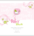 baby girl arrival card vector image vector image
