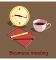 Business meeting objects vector image