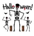 Dancing skeletons Cartoon vector image