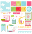 Design Elements - Baby Bunny Sweet vector image