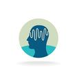 Head scan logo Brain activity waveform vector image