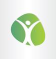 healthy man green icon medical vector image