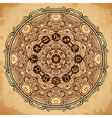 ornate mandala and zodiac circle horoscope signs vector image