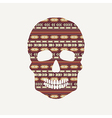 skull with ethnic pattern vector image