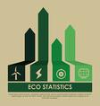 statistics design vector image