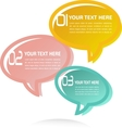 Translucent Thought Bubbles Infographic Business vector image