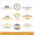 Set of vintage carpentry logos vector image