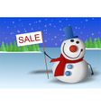 Snowman is marked Sale vector image vector image
