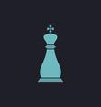 Chess king computer symbol vector image