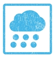 Rain Cloud Icon Rubber Stamp vector image
